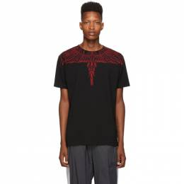 Marcelo Burlon County Of Milan Black and Red Wings T-Shirt 192539M21304404GB