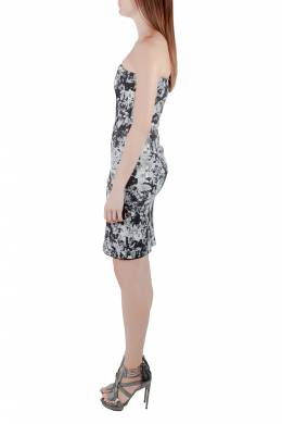 Erdem Black and White Floral Print Stretch Cotton Corset Bodice Dress S 212313
