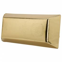 Undercover Gold Leather Gold Bar Clutch 212782