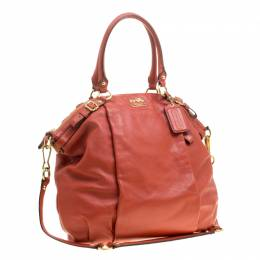 Coach Orange Leather Satchel 142857
