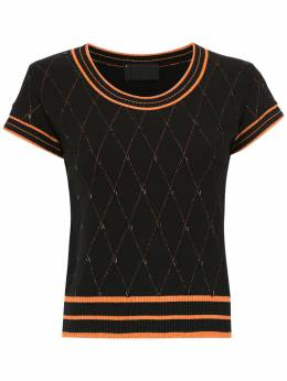 Andrea Bogosian - embroidered knit blouse 95593695086000000000