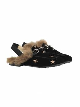 Gucci Kids - Children's Princetown bees and stars slippers 6999UM96936060650000