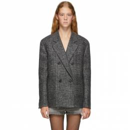 Saint Laurent	 Grey Oversized Glen Plaid Jacket 192418F06300205GB