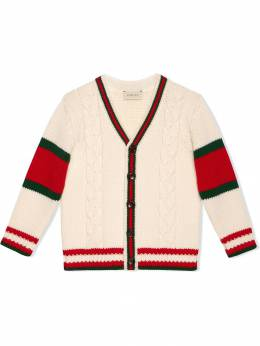 Gucci Kids Children's cable knit wool cardigan 512524X1577