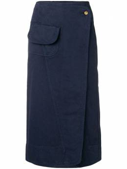 Henrik Vibskov - Coco wrap denim skirt 9F569935055330000000
