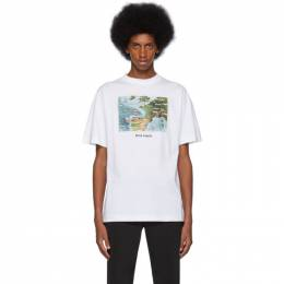 Palm Angels White Lost Flight T-Shirt PMAA001F194130430188