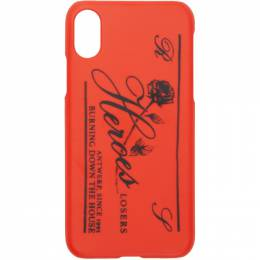 Raf Simons Red Heroes iPhone X Case 192287M15300201GB
