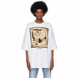 Palm Angels White Foulard T-Shirt PMAA033F194130280188
