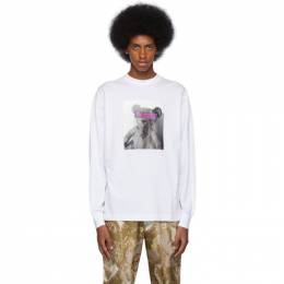 Palm Angels White Bear Long Sleeve T-Shirt PMAB002F194130360188