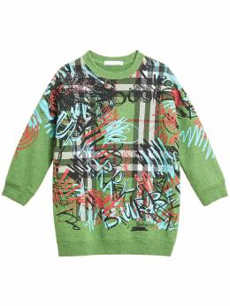 Burberry Kids - graffiti scribble print sweatshirt dress 03039093695600000000