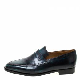 Black Leather Penny Loafers Size 42.5 Berluti 215127