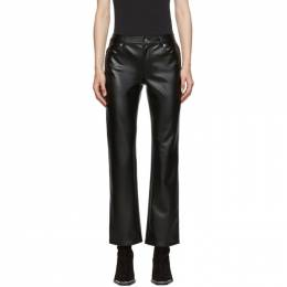 Alexander Wang Black Stretch Faux-Leather Trousers 1WC2194164