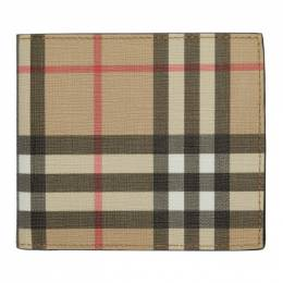 Burberry Beige Vintage Check International Bifold Wallet 8016611
