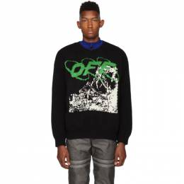 Off-White Black and White Ruined Factory Sweater 192607M20101206GB