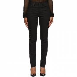 Saint Laurent	 Black Mid-Rise Skinny Jeans 192418F06900202GB