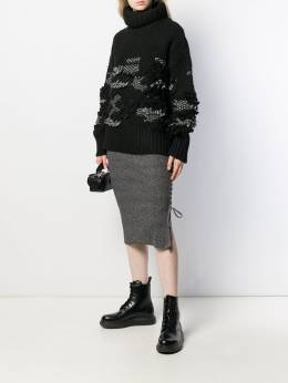 McQ Alexander McQueen - lace-up pencil skirt 035RNK35953333600000