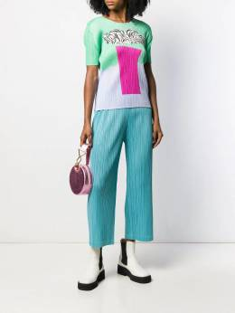 Pleats Please By Issey Miyake - printed pleated T-shirt 8JK33095006659000000