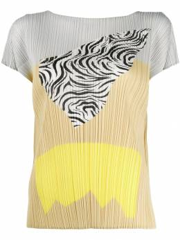Pleats Please By Issey Miyake - printed pleated T-shirt 8JK33395006656000000