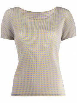Pleats Please By Issey Miyake - check T-shirt 8FK36995006655000000