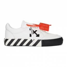 Off-White White and Black Low Vulcanized Sneakers OMIA085S20D680380110