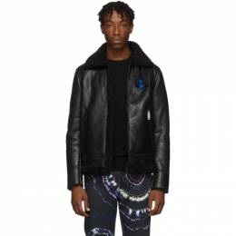 Off-White Black and White Shearling OFFF Jacket OMJA028F190310201001