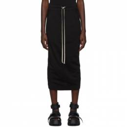 Rick Owens DRKSHDW Black Short Soft Pillar Skirt 192126F09200202GB