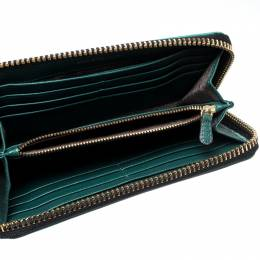 Anya Hindmarch Turquoise Leather Zip Around Wallet 218870