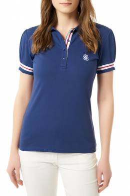 polo t-shirt Jimmy Sanders 19S_PLW2008_NAVY