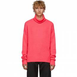Acne Studios Pink Cashmere and Wool Oversized Nyran Turtleneck 192129M20500203GB