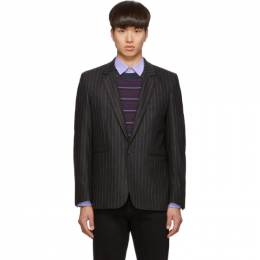 Paul Smith Grey Wool Pinstripe Blazer M1R-1937-A00817