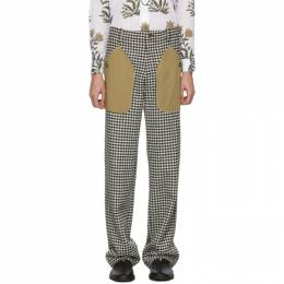 Loewe Black and White Houndstooth Patch Pocket Trousers H2292170DF