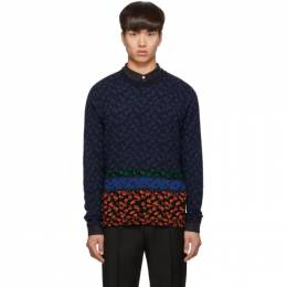 PS by Paul Smith Multicolor Knit Floral Sweater M2R-444T-A20735
