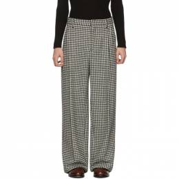 Loewe Black and White Houndstooth Pleated Trousers H2292670DI