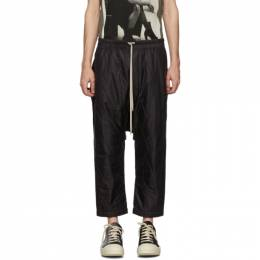 Rick Owens DRKSHDW Black Drawstring Cropped Lounge Pants 192126M19101001GB