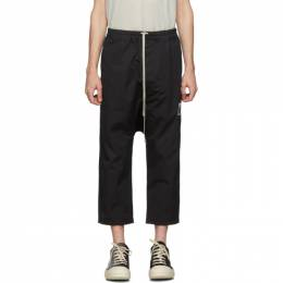 Rick Owens DRKSHDW Black Drawstring Cropped Trousers 192126M19100806GB