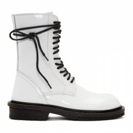 Ann Demeulemeester SSENSE Exclusive White Low Rider Boot 192378F11302910GB