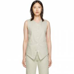 Lemaire Off-White Twill Vest 192646F06800201GB