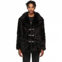 Faith Connexion	 Black Faux-Fur Coat 192848M17900104GB
