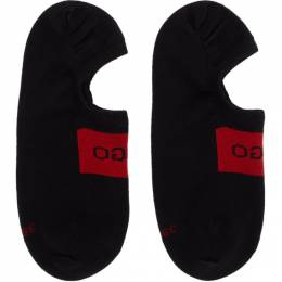 Hugo Two-Pack Black Logo Socks 201084M22003001GB