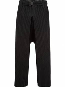 Homme Plissé Issey Miyake - pleated drop crotch trousers 8JF93995953568650000