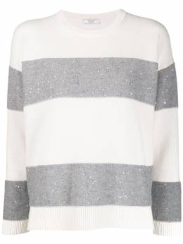 Peserico - wide stripe jumper 663F6395596903000000