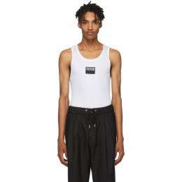 Versace Jeans Couture White Logo Tank Top 192202M21400104GB