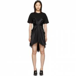 Alexander Wang Black Cinched T-Shirt Slip Dress 1WC2196179