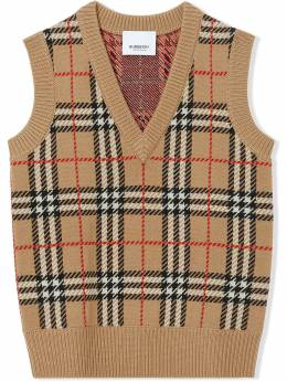 Burberry Kids жилет в клетку 8017872