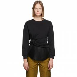 3.1 Phillip Lim Black Twist Sweater F191-1959FTY