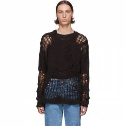 Our Legacy Brown Popover Roundneck Sweater 192803M20100606GB