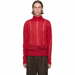 Our Legacy Red Submarine Rollneck Sweater 192803M20500204GB