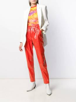 MSGM - leather effect gathered trousers 0MDP9999958699556696