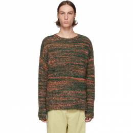 Our Legacy Green Smudge Fair Isle Sweater 192803M20100405GB