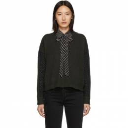 McQ Alexander McQueen Green McQ Swallow Cropped Jumper 558918RNK46